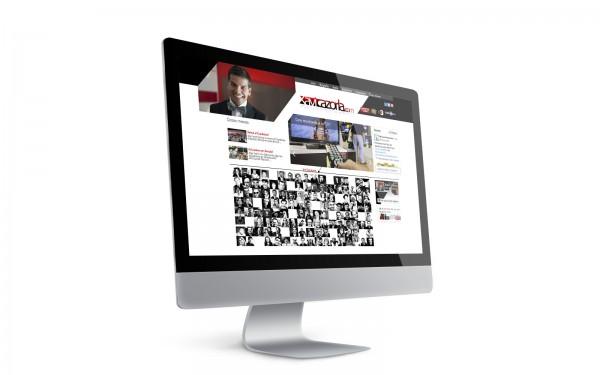 """""""Disseny de pàgina web per a Xavi Cazorla, imitador, guionista i humorista a l'Apm de la Tribu de Catalunya Ràdio i al Crackòvia de TV3"""""""