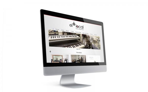 """""""Imatge i web de El Local, Estudi de Gravació a Girona"""""""