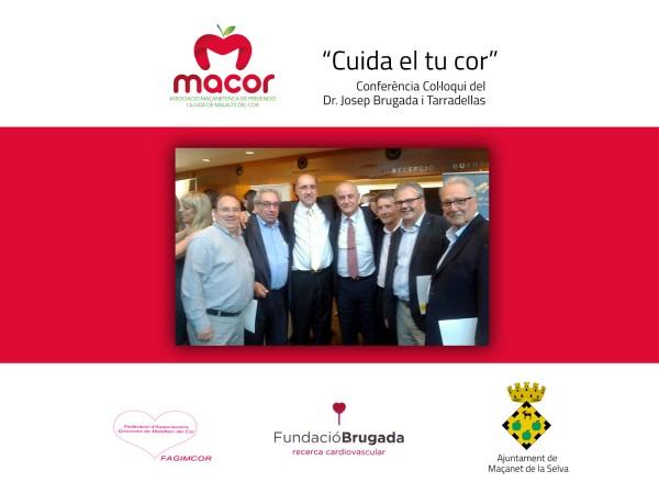 """""""Col·laborem amb MACOR, Associació de prevenció i ajuda a malalts del cor"""""""