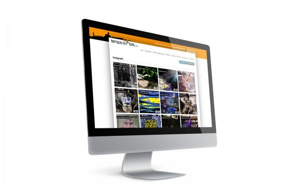 """""""Creació de marca i disseny web de tempsdeflors.com"""""""
