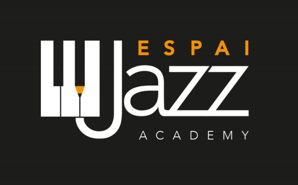 Logo Espai Jazz. Disseny d'anbimedia, Girona