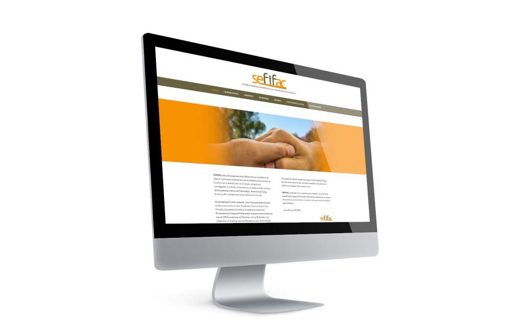 Disseny de la marca SEFIFAC i disseny web per anbimedia