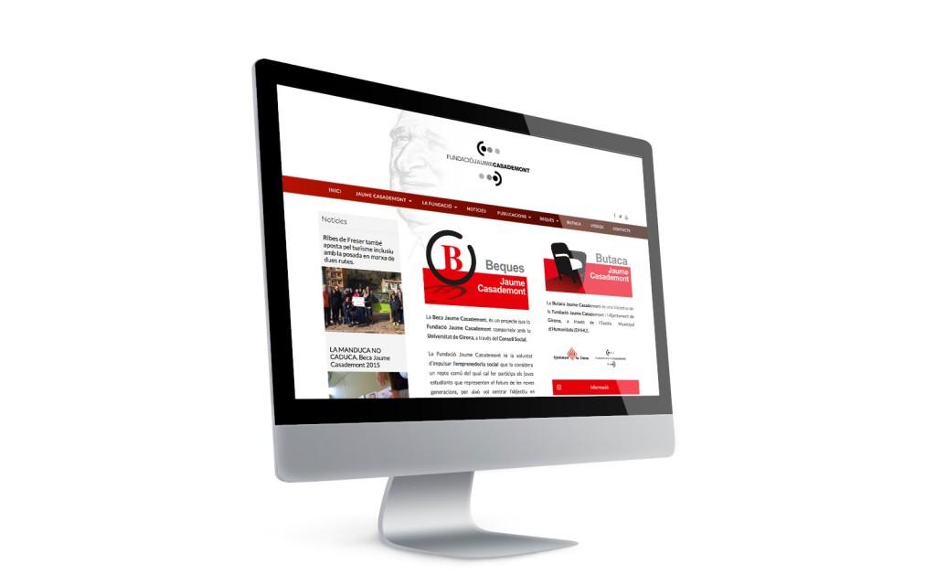 Anbimedia disseny web girona. Disseny web de la Fundació Jaume Casademont